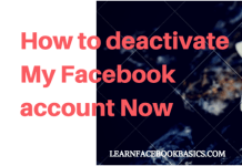 How to deactivate My Facebook account now | Delete Facebook Account Temporarily | How to #DeleteFacebook
