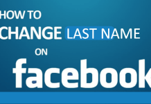 How Can I change My last name on Facebook?
