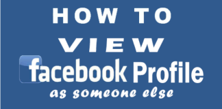 How to View My Facebook Profile as Someone Else