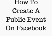 Create Public event on Facebook