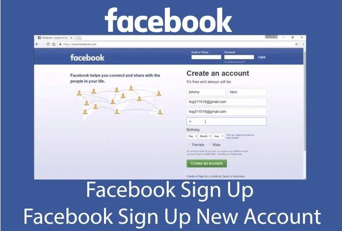 facebook create new account