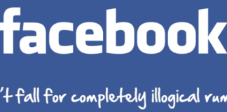 Today's hoax on Facebook- follow me