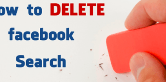 How To Delete Facebook Search