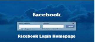 Facebook Login Homepage