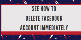 See how to delete Facebook account immediately