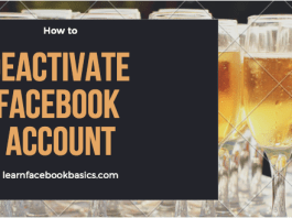 How to deactivate Facebook account | Disable Facebook account Temporarily | Deactivating Facebook New Account Right Now: Deactivating Facebook account is a very simple and quick thing to do - you can deactivate your Facebook profile account temporarily and decides to come back whenever you wish to. See: How to Deactivate Your Facebook Account - Simplest Way! How to deactivate Facebook account | Disable Facebook account Temporarily | Deactivating Facebook New Account Right Now How to deactivate Your Facebook account *Click the account menu at the top right of any Facebook page *Select Settings *Click Security in the left column *Choose Deactivate your account then follow the steps to confirm If you deactivate your account your profile won't be visible to other people on Facebook and people won't be able to search for you. Some information, such as messages you sent to friends, may still be visible to others. Or Visit: www.facebook.com/deactivate.php on your web browser (PC or Mobile) If you'd like to resume with your Facebook anytime after you've deactivated your FB account, you can reactivate your account simply by logging in with your email and password. Your complete profile will be restored in its entirety for example: friends, photos and interests. Remember that you'll need to have access to the login email address for your account to reactivate it. If you can't get into your account, you can reset your password. Smart Links: How To See My Blocked List On Facebook How do I poke someone on Facebook? How to close Facebook account temporarily and permanently How to Delete FB Permanently If you delete your Facebook permanently, you won't be able to reactivate or retrieve any of the data or information you had on Facebook. If you'd like to permanently delete your account with no option for recovery click here: How to Delete Facebook Permanently Did it work? Were you able to deactivate your Facebook account? If not, tell us what the problem is - in the comment box bel