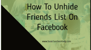 How To Unhide Friends List On Facebook | Unhide My Facebook Friends List