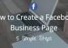 Create a Facebook Business Page - FB Fan Page Sign Up