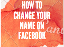 Change Name in Facebook page