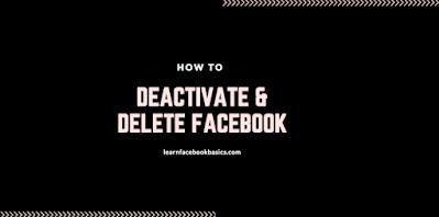 Deactivate - Delete Facebook Account - Delete My Fb Profile Permanently