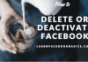 How to Temporarily Deactivate Facebook