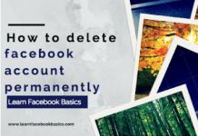 How i delete Facebook account