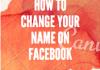 Change Name Facebook Mobile