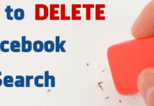 Delete Facebook Searches