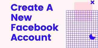 Create A New Facebook Account