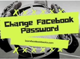 How To Change Facebook Login Password