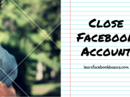 Cancel Or Close My Facebook Account temporarily and permanently