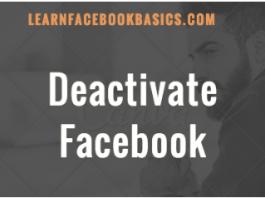 Deactivate Your Facebook Account 2020 Tutorial