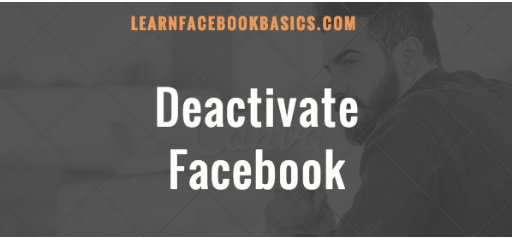 Deactivate Your Facebook Account 2020 Tutorial