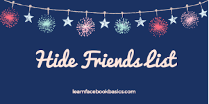 How to hide friends list on Facebook | Block friends list from Friends - FB search friends list