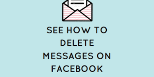 See how to delete Messages on Facebook messenger