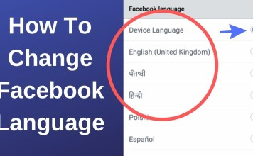 Change Fbook Language