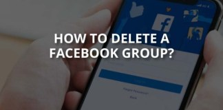 How to delete a facebook page or group