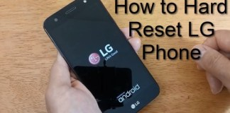 How to do hard reset LG mobile phone