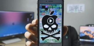 An iPhone getting glitch