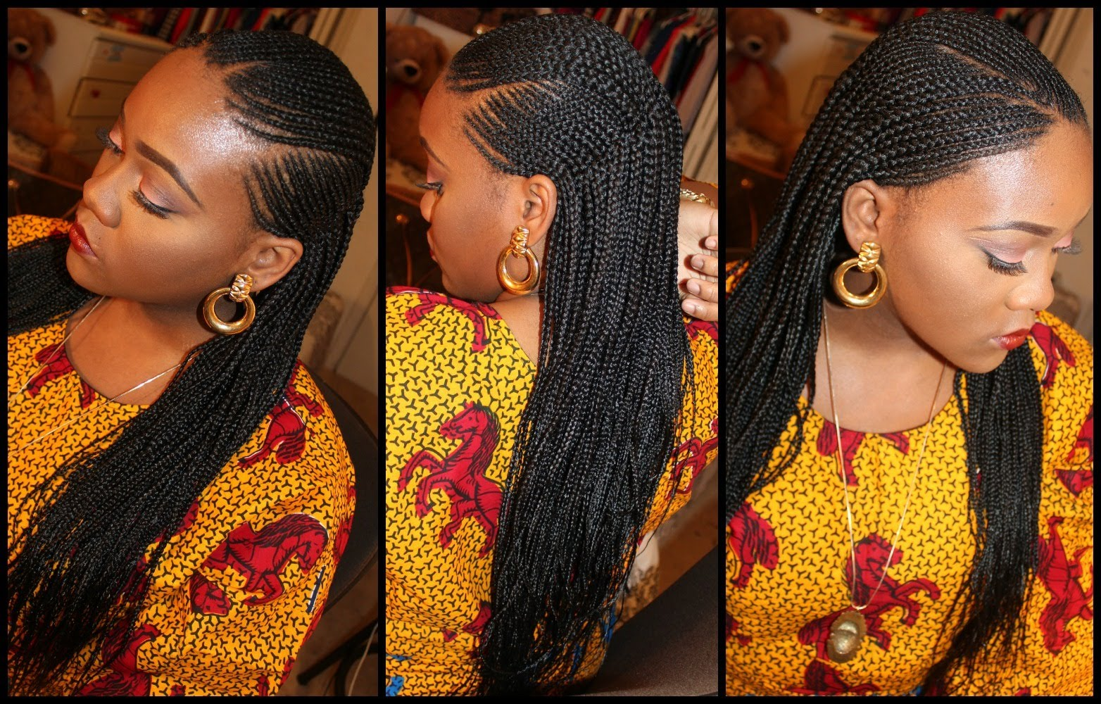 GRACEFUL HAIR MAKEOVER Invisible Cornrow Part