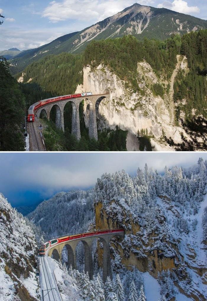 Landwasser Viaduct, İsviçre