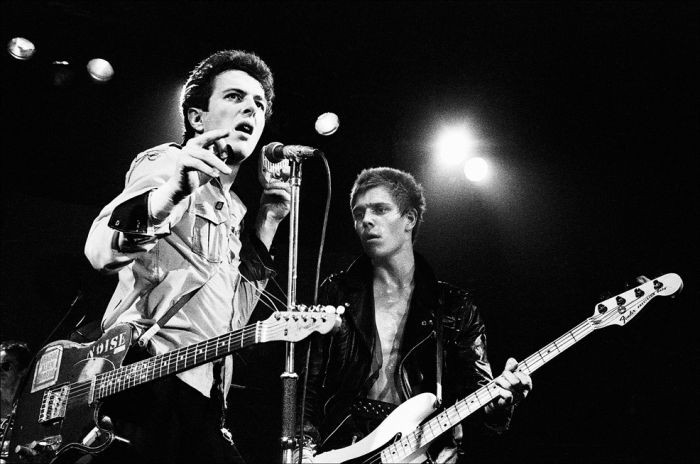 Joe Strummer and Paul Simono