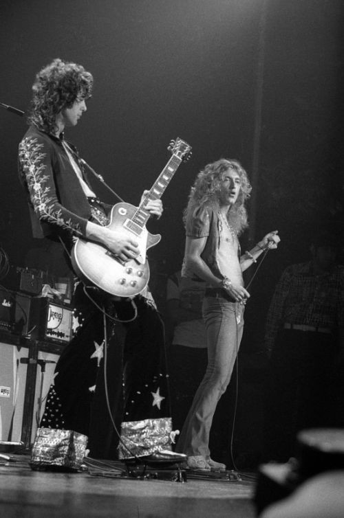 Jimmy Page ve Robert Plant Madison - 1973