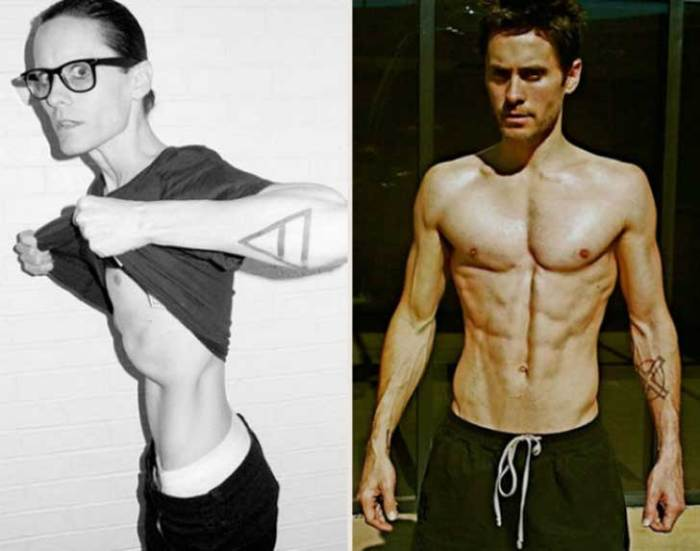 And Jared Letto lost over 40 lbs from an already light frame for the same movie