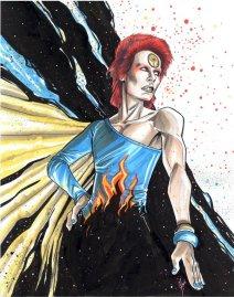 Peinture faite par Megan représentant le côté sombre de Bowie (Crédit: Twitter/@SadMeganGirls).