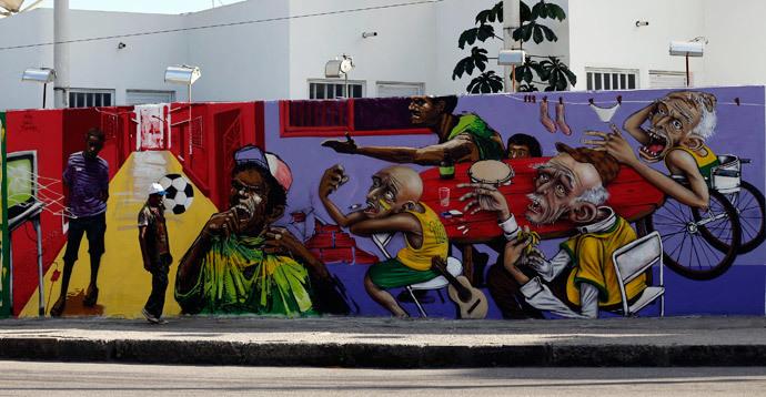 ブラジルワールドカップに反対するストリートアート (14)