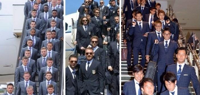 イングランド、イタリア、日本のサッカー代表