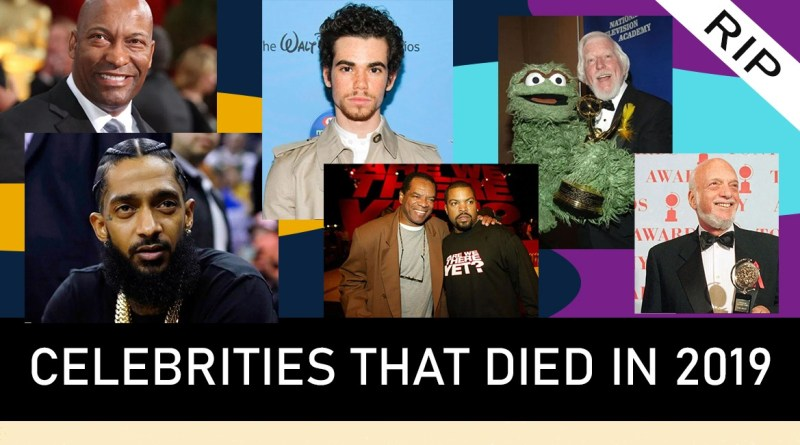 Celebrities that died in 2019