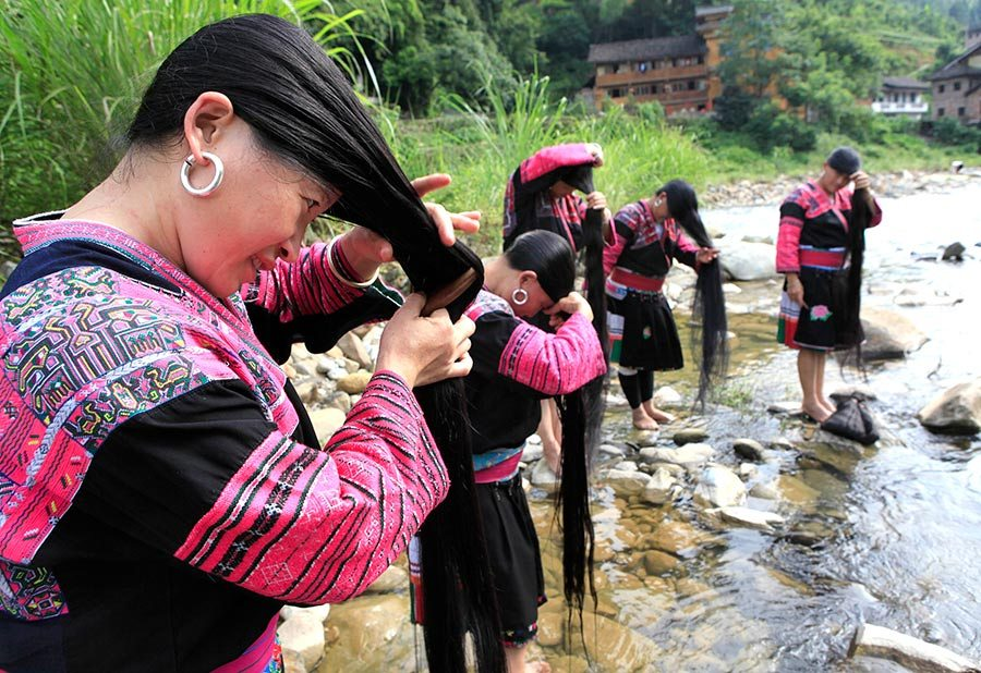 Meet Women Of Yao Ethnic Group With The Longest Hair In