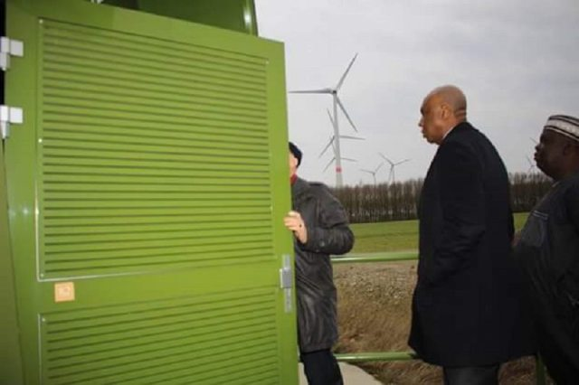 Bukola Saraki in germany on Power Supply 2