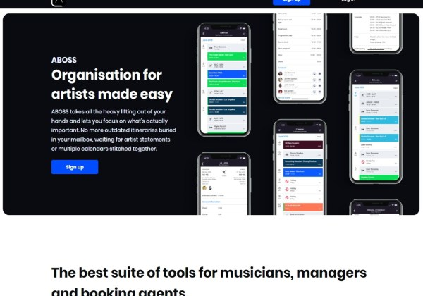 ABOSS - Software for artists agents and managers