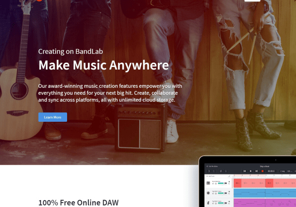 BandLab FREE Online DAW Award-Winning Features