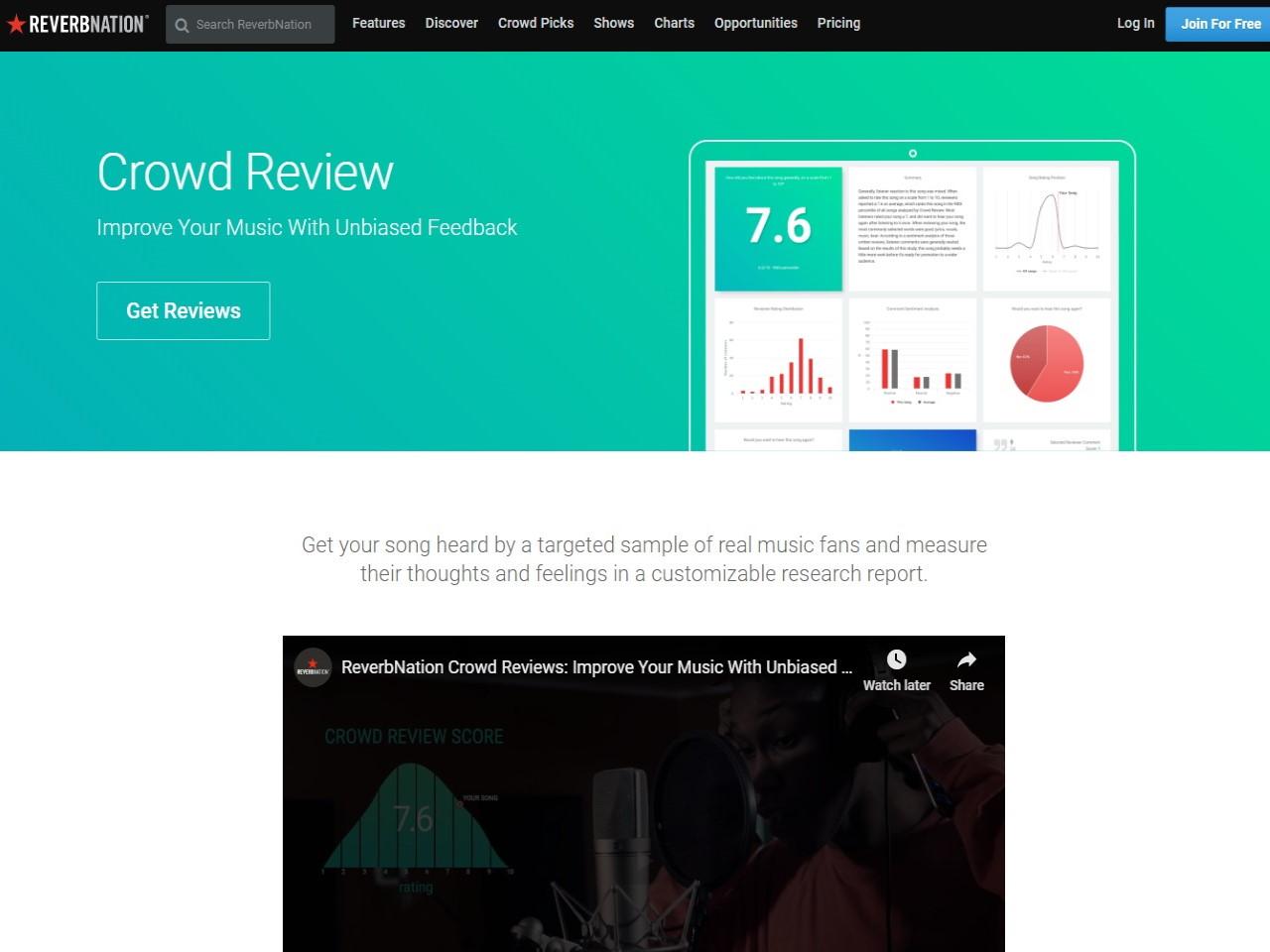 Crowd Reviews - Unbiased Fan Feedback ReverbNation