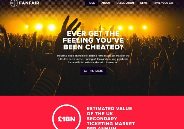 Fanfair alliance against online ticket touts