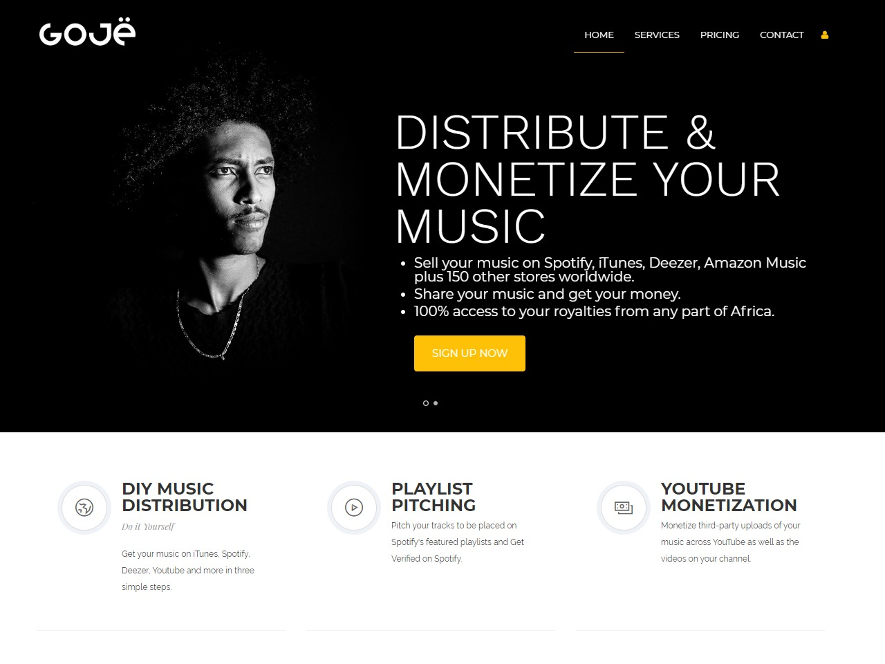 Goje Sell Your Music Online - Digital Music Distribution