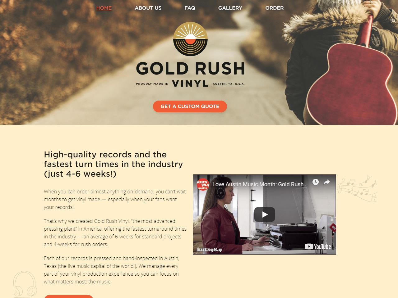 Gold rush vinyl pressings texas