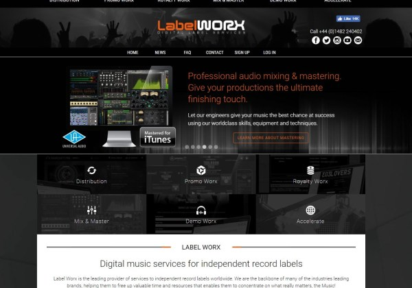 Label Worx - Digital Distribution Promotion Royalty Software more