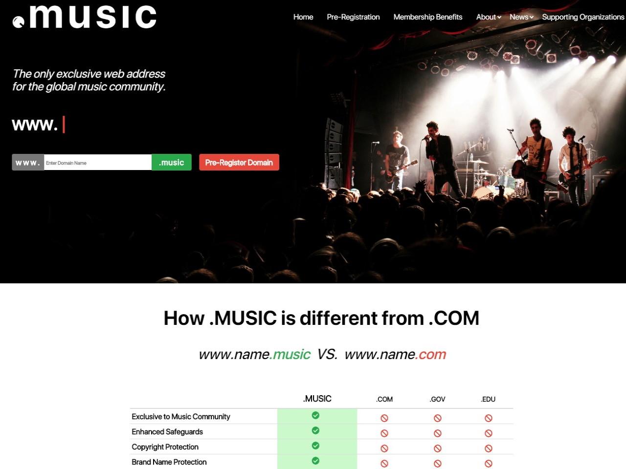 _MUSIC Domain Name Extension - DotMusic - TLD