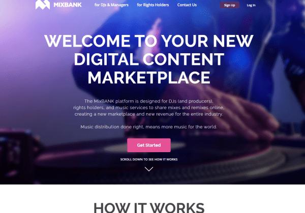 MixBANK com Digital content marketplace for distribution of mixes remixes