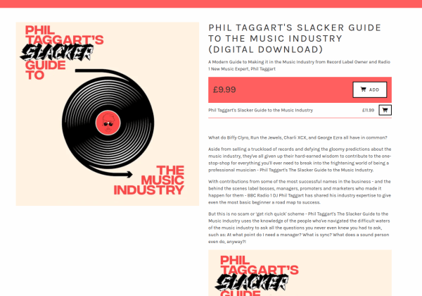 Phil Taggart s Slacker Guide to the Music Industry Digital Download - Slacker